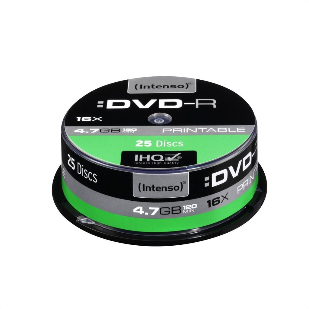 Intenso DVD-R 4,7GB 25er Spindel Printable 4801154
