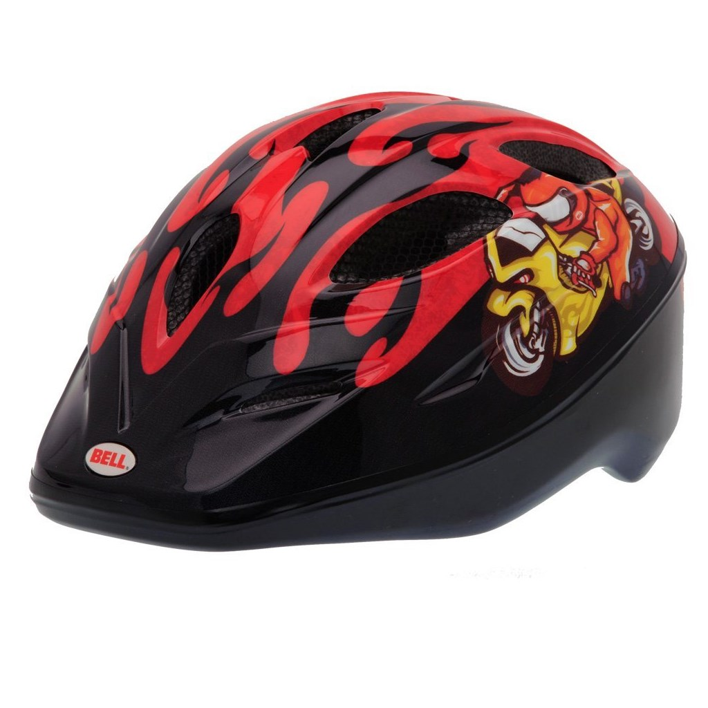 bell kinder fahrradhelm dart red moto gp flame. Black Bedroom Furniture Sets. Home Design Ideas