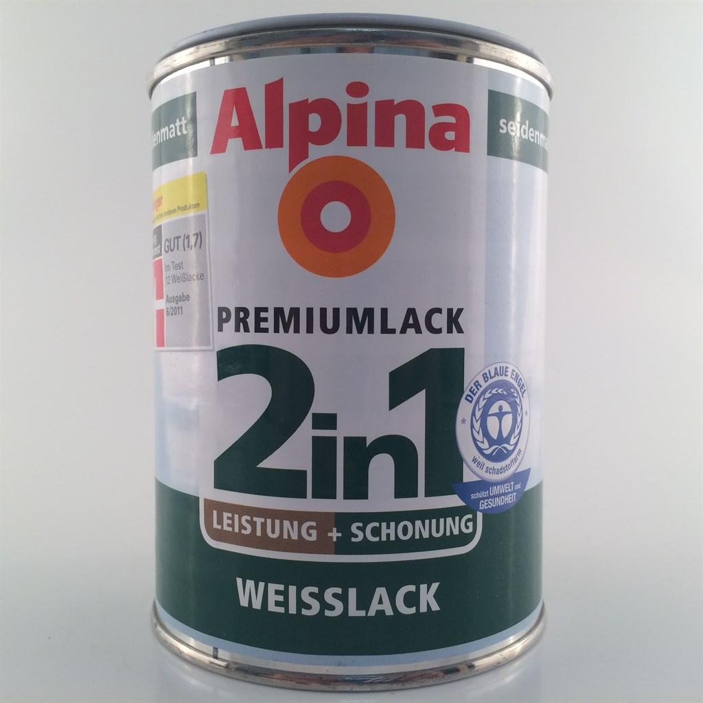 alpina 2in1 weisslack premium weiss seidenmatt oder gl nzend 12 49 l ebay. Black Bedroom Furniture Sets. Home Design Ideas