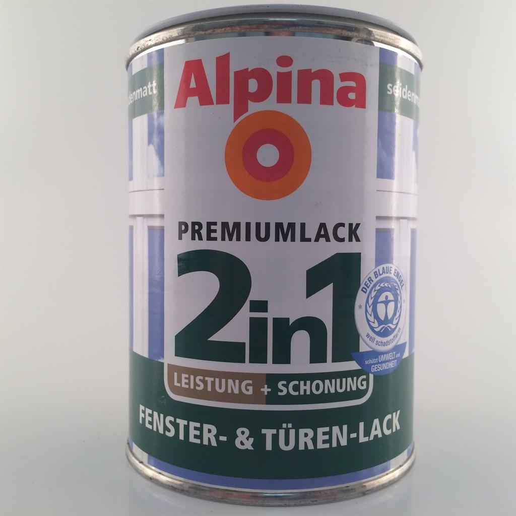 alpina 2in1 fenster t ren lack premium weiss seidematt oder gl nzend 12 49 l ebay. Black Bedroom Furniture Sets. Home Design Ideas