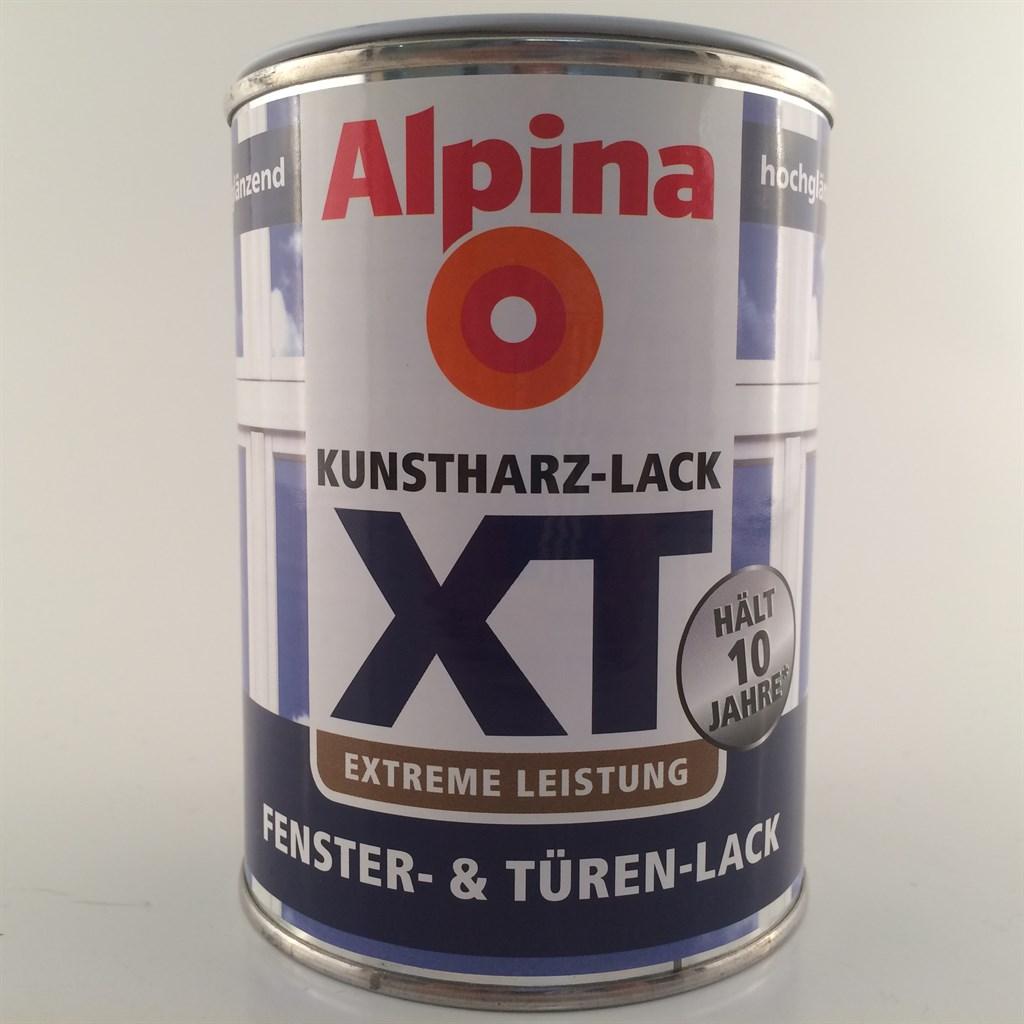 alpina xt fenster t ren lack gl nzend weiss premiumlack 11 99 l ebay. Black Bedroom Furniture Sets. Home Design Ideas
