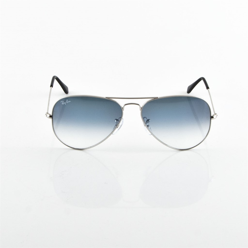 ray ban aviator large metal rb3025 003 3f 58mm silver light blue gradient ebay. Black Bedroom Furniture Sets. Home Design Ideas