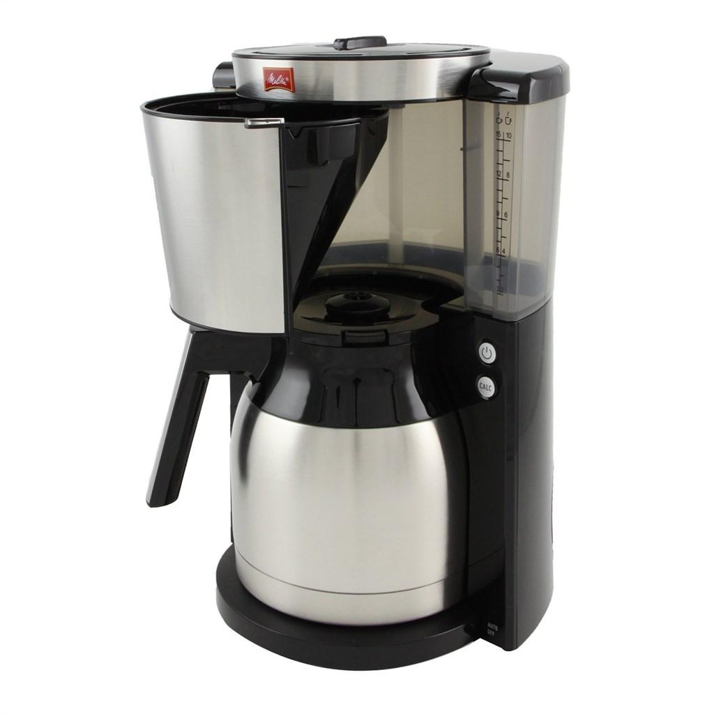 melitta 1011 14 kaffeefiltermaschine look therm deluxe schwarz edelstahl ebay. Black Bedroom Furniture Sets. Home Design Ideas