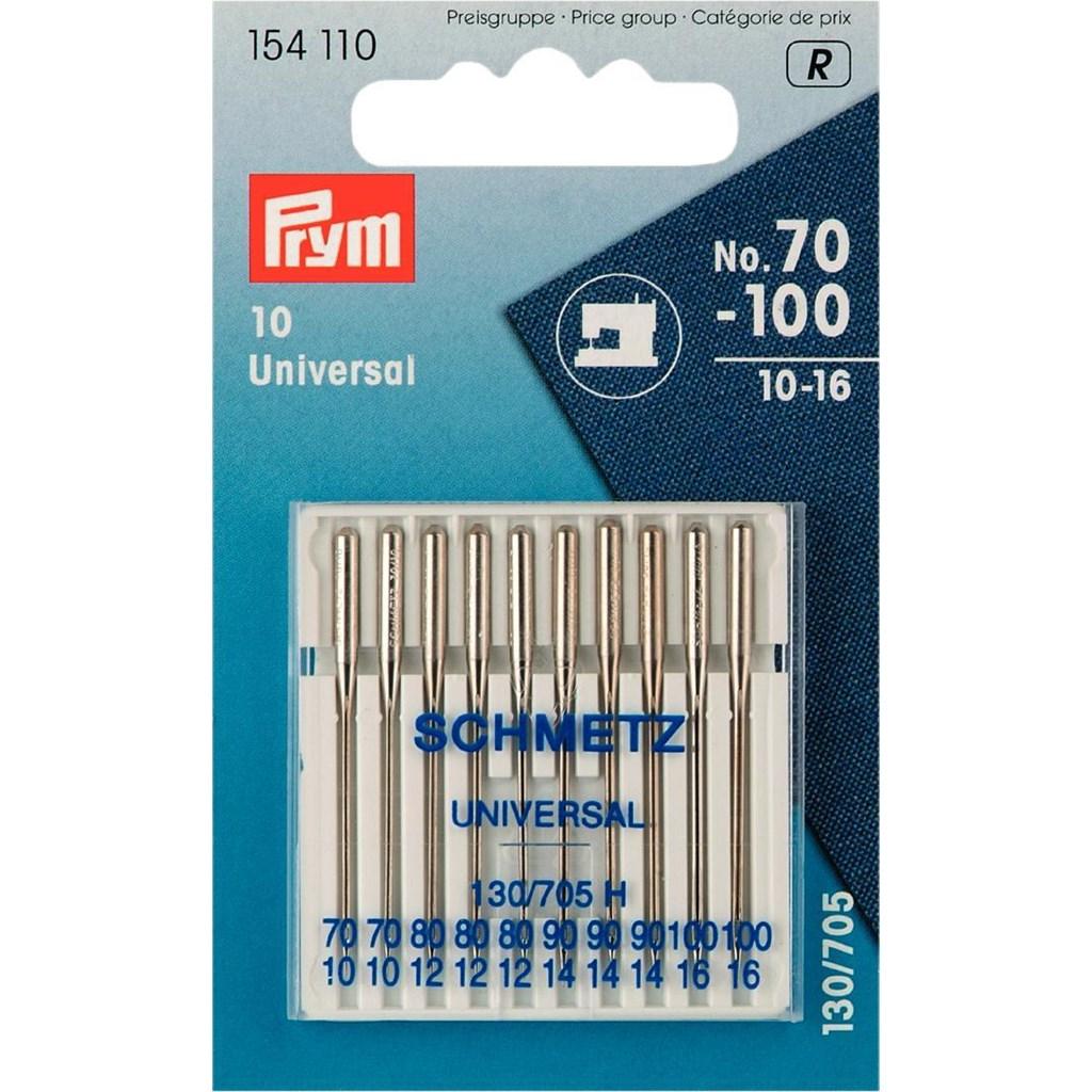 Prym-154110-Naehmaschinennadeln-Standard-70-100-10-Stk-130-705-Flachkolben
