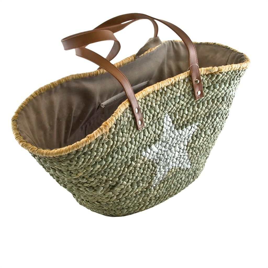 shopper stern natur korbtasche bast sommertasche strandtasche damen neuware ebay. Black Bedroom Furniture Sets. Home Design Ideas