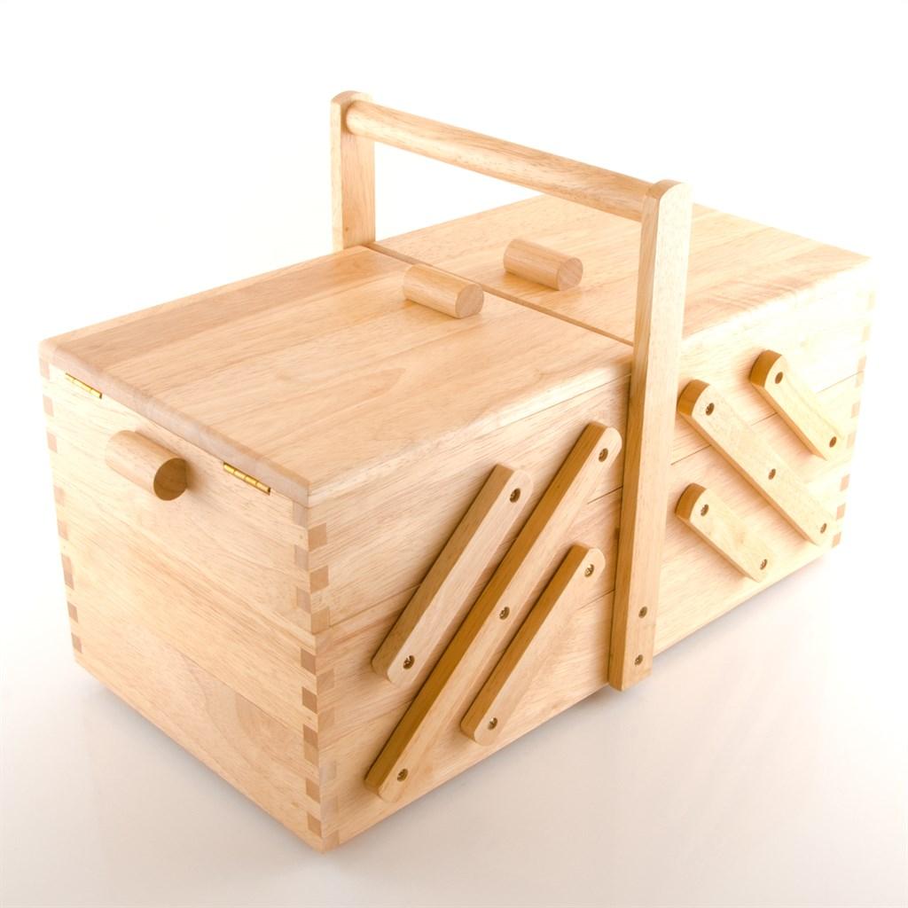 prym 612548 n hkasten holz hell gr l 45 x 28 x 23 cm. Black Bedroom Furniture Sets. Home Design Ideas