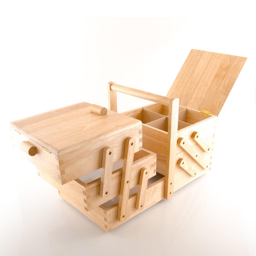 prym 612548 n hkasten holz hell gr l 45 x 28 x 23 cm n hkorb ebay. Black Bedroom Furniture Sets. Home Design Ideas