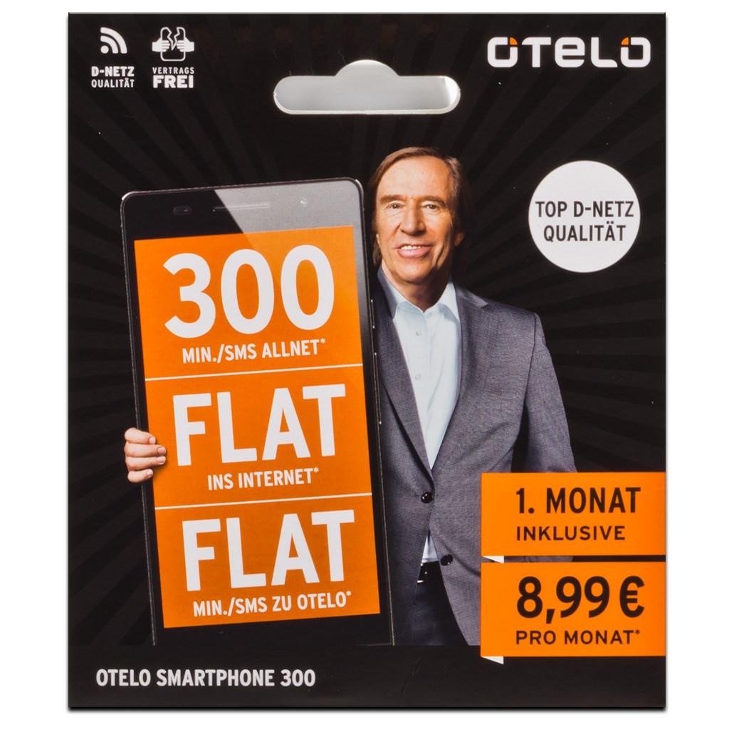 otelo Smartphone 300 FLAT Prepaid Internet Telefon SMS Allnet Flat 1 Monat gratis