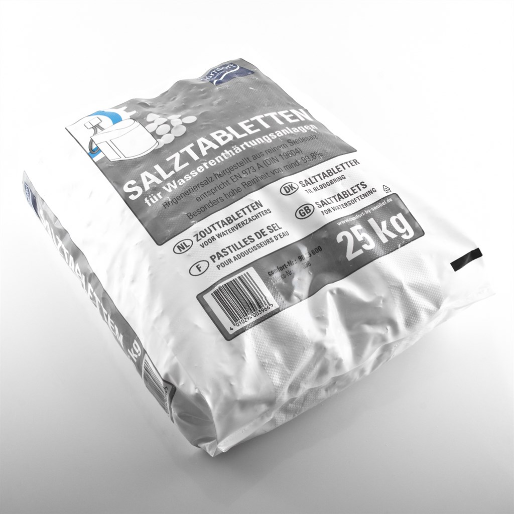 comfort salztabletten 25kg regeneriersalz siedesalz zu wasserenth rtung 0 40 kg ebay. Black Bedroom Furniture Sets. Home Design Ideas