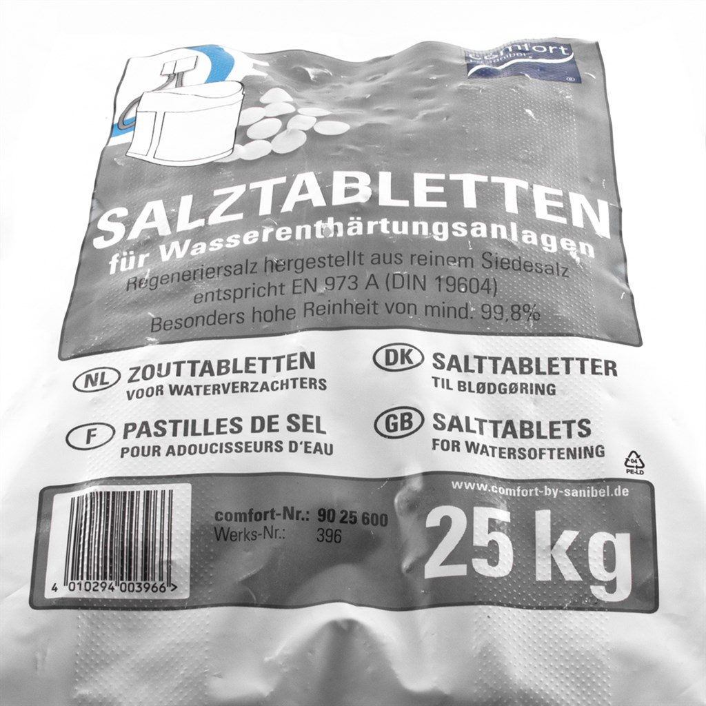 comfort salztabletten 25kg regeneriersalz siedesalz zu wasserenth rtung 0 40 kg ebay. Black Bedroom Furniture Sets. Home Design Ideas