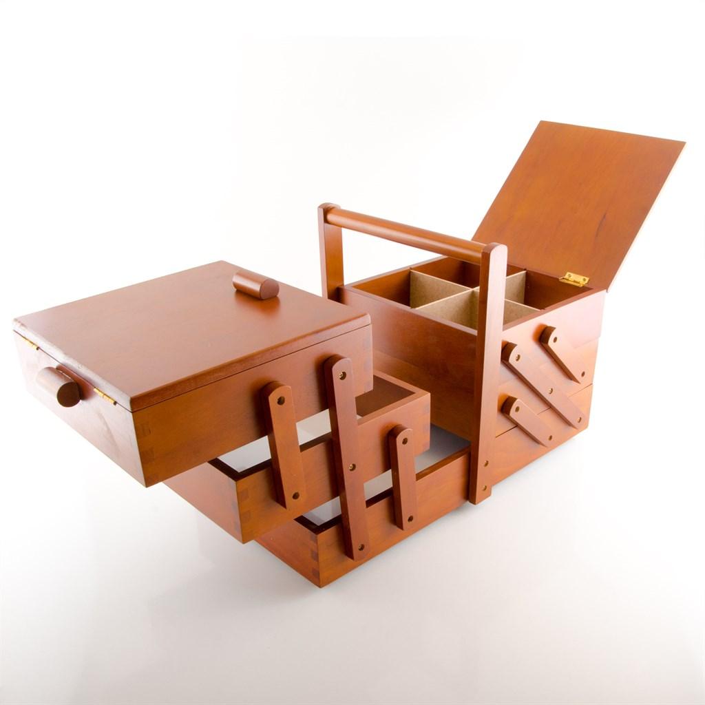 prym 612551 n hkasten holz dunkel gr l 45 x 28 x 23 cm n hkorb 4002276125513 ebay. Black Bedroom Furniture Sets. Home Design Ideas