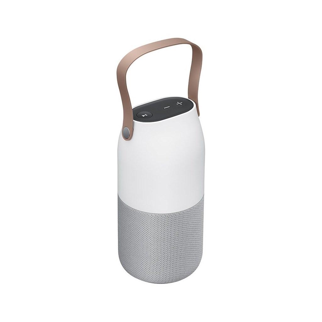 samsung bottle bluetooth lautsprecher 360 grad sound und lichteffekten in grau ebay. Black Bedroom Furniture Sets. Home Design Ideas