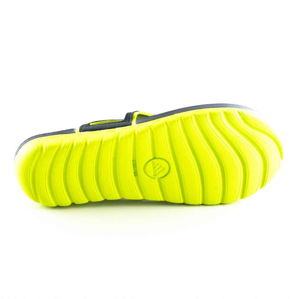 Adidas Sandalen Badeschlappen Zehentrenner Grau Gelb Calo