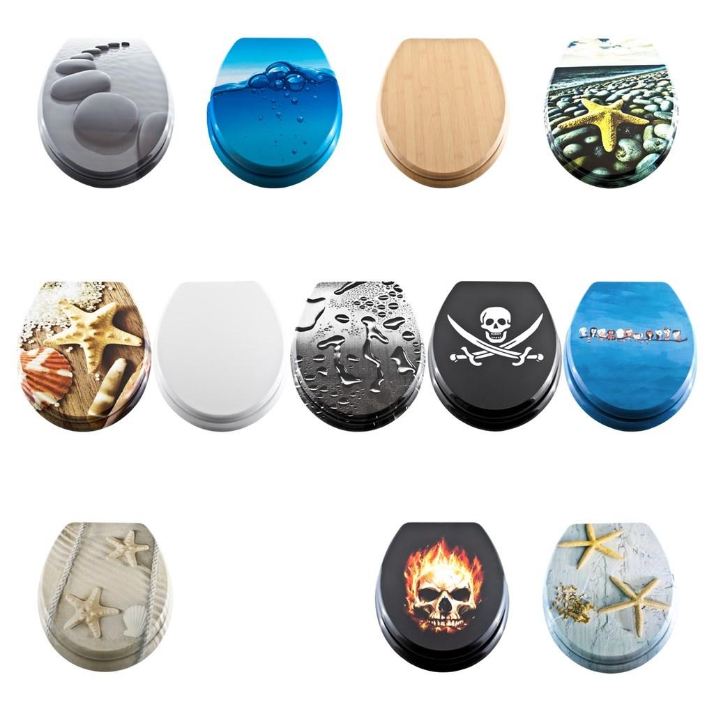 georges wc sitz mdf absenkautomatik toilettendeckel verschiedene designs ebay. Black Bedroom Furniture Sets. Home Design Ideas